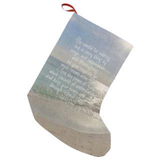 De Christen van het Strand van het Vers van de Kleine Kerstsok