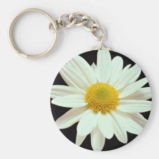 De chrysant van de margriet basic ronde button sleutelhanger