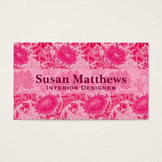 De Chrysanten van William Morris, Fuchsiakleurig Visitekaartjes