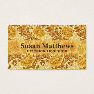 De Chrysanten van William Morris, het Goud van de Visitekaartjes