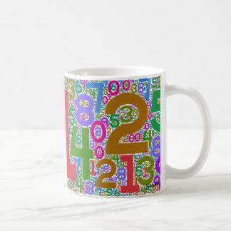 de cijfers interdigitated koffiemok