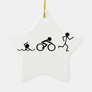 De Cijfers van de Stok van Triathlon Keramisch Ster Ornament