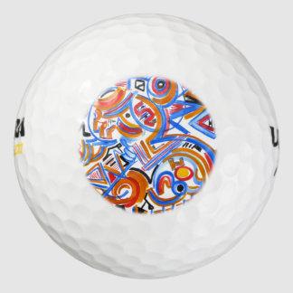 De circus-Hand van drie Ring schilderde Abstract Golfballen
