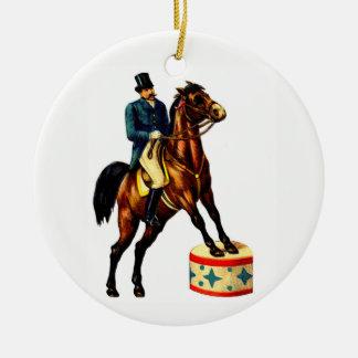 De Circusdirecteur van het circus Rond Keramisch Ornament