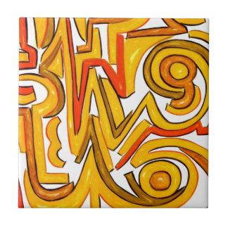 De cirkel-Moderne Geometrische Kunst van het gewas Keramisch Tegeltje