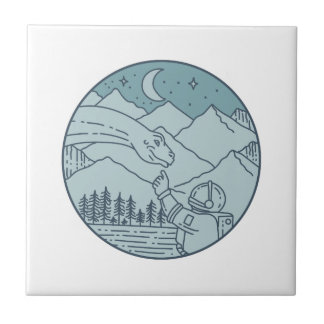 De Cirkel van de Bergen van de Sterren van de Maan Tegeltje