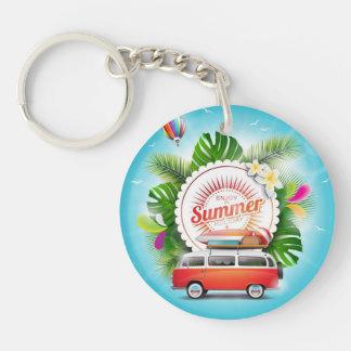 de Cirkel van de de zomervakantie (tweezijdige) Sleutelhanger