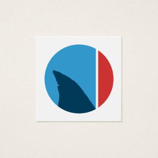 de cirkel van de haaivin vierkant visitekaartjes