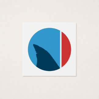 de cirkel van de haaivin vierkante visitekaartjes
