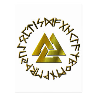 De Cirkel van de rune met Volknot Briefkaart