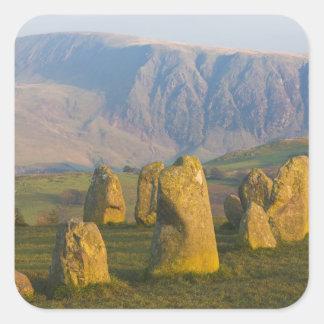De Cirkel van de Steen van Castlerigg, het Vierkante Sticker