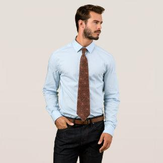 De cirkel van het brons en diamantstropdas persoonlijke stropdas