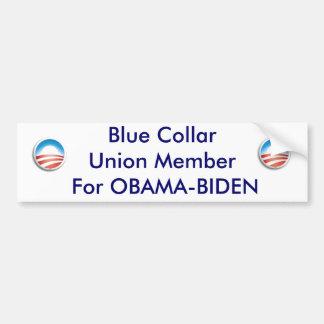 De cirkel van Obama, Obama cirkel, Blauwe CollarUn Bumpersticker