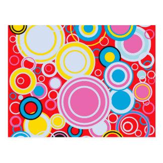 De Cirkels van de Kleur van het pop-art Briefkaart