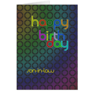 De cirkels van de verjaardag voor schoonzoon briefkaarten 0