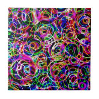 De Cirkels van het neon Tegeltje