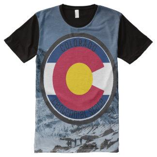 De CirkelVlag van Colorado All-Over-Print T-shirt