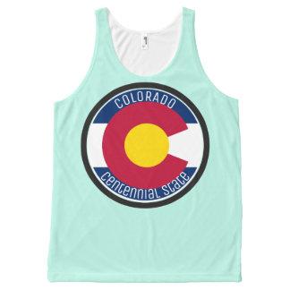 De CirkelVlag van Colorado All-Over-Print Tank Top