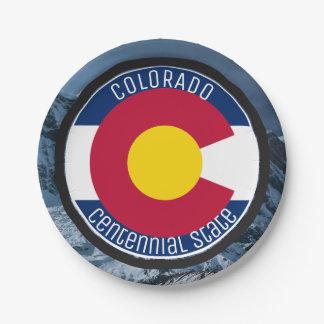 De CirkelVlag van Colorado Papieren Bordje