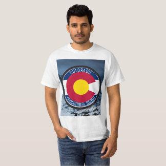 De CirkelVlag van Colorado T Shirt