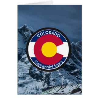 De CirkelVlag van Colorado Wenskaart