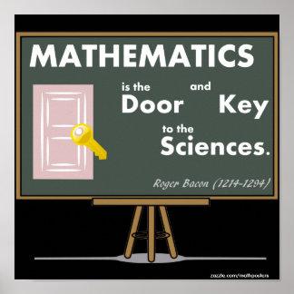 De Citaten van de Posters van de wiskunde