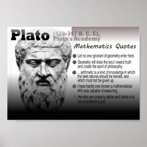 Citaten Plato : De citaten van wiskunde plato posters zazzle