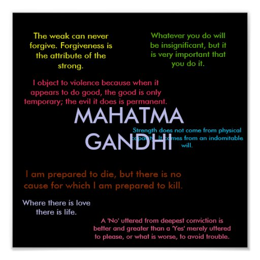 Citaten Gandhi : De citaten van gandhi print zazzle