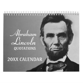De Citaten van Lincoln van Abe met foto Kalender