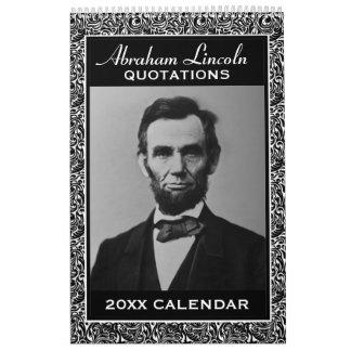 De Citaten van Lincoln van Abe met Presidentiële Kalender