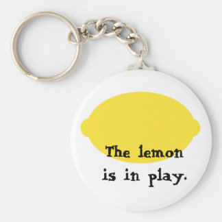 De citroen is in Spel Keychain Sleutelhanger