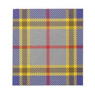 De Clan Balfour van het geruite Schotse wollen Notitieblok