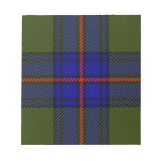 De Clan Shaw van het geruite Schotse wollen stof Notitieblok
