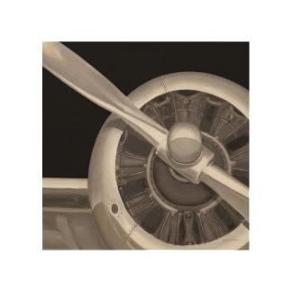 De Close-up van de Propeller van het vliegtuig Hout Afdruk