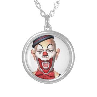 De Clown die van de moordenaar aan de voorzijde Zilver Vergulden Ketting