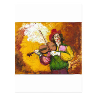 "De Clown ""Dubie Hummingbyrd "" van Fiddler Briefkaart"