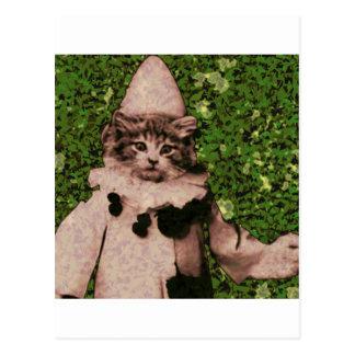 De clown van de kat briefkaart