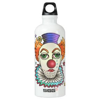 De Clown van het circus Aluminium Waterfles