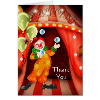 De Clown van het circus dankt u Kaarten