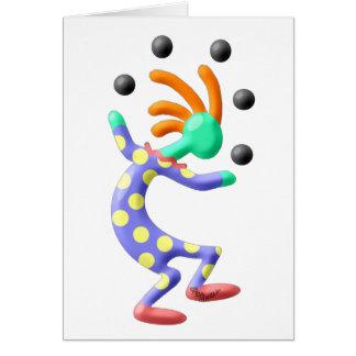 De Clown van Kokopelli Briefkaarten 0