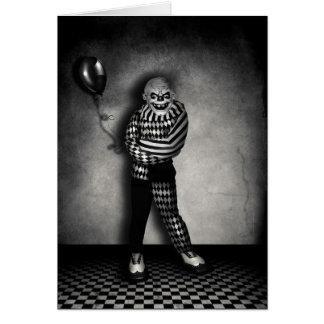 De clowns spelen kaart