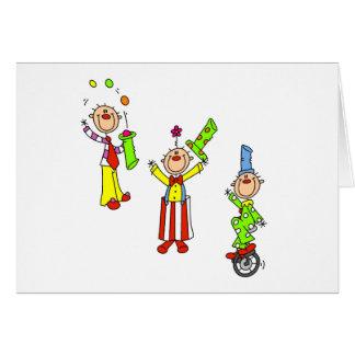 De Clowns van het circus Kaart