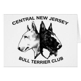 De Club van CNJ Bull terrier Wenskaart