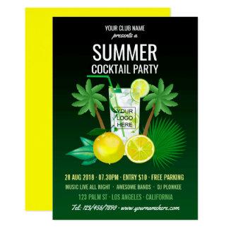 De Club van de Cocktails van de zomer/de Kaart