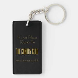 De Club van de kanarie keychain Sleutelhanger