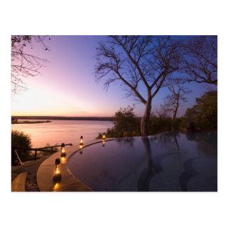 De club van de Rivier brengt, zonsondergang op Briefkaart