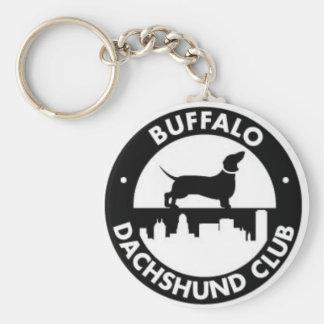 De Club van de Tekkel van buffels keychain Basic Ronde Button Sleutelhanger