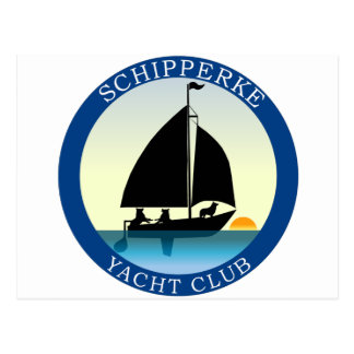 De Club van het Jacht van Schipperke Briefkaart