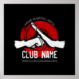 De Club van vechtsporten Poster