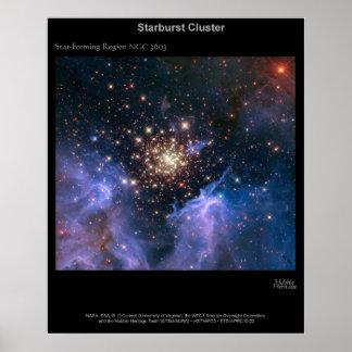 De Cluster NGC 3603 van Starburst Poster